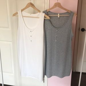 Set of 2 pinkblush maternity tanks with buttons